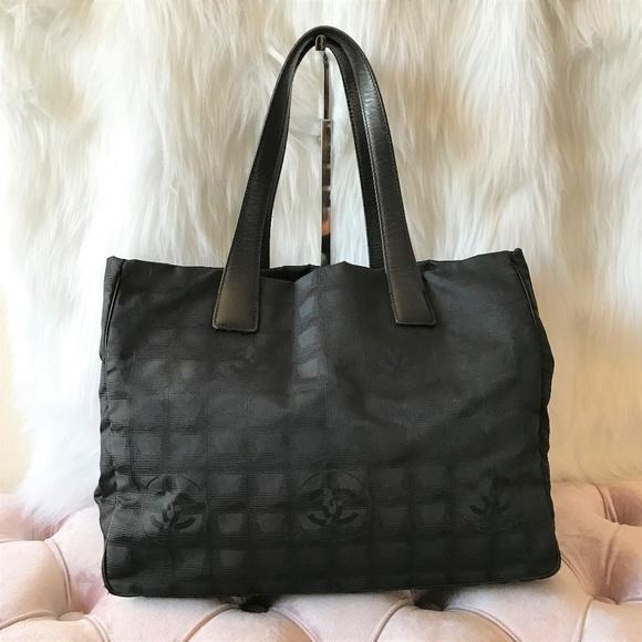 14416f45015d CHANEL Handbags - CHANEL Travel Line Black Canvas Tote